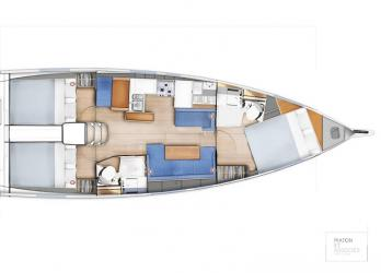 Plan SO 410 - 3 cabines